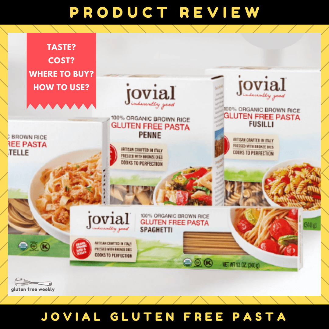 Jovial Gluten Free Rice Pasta Review