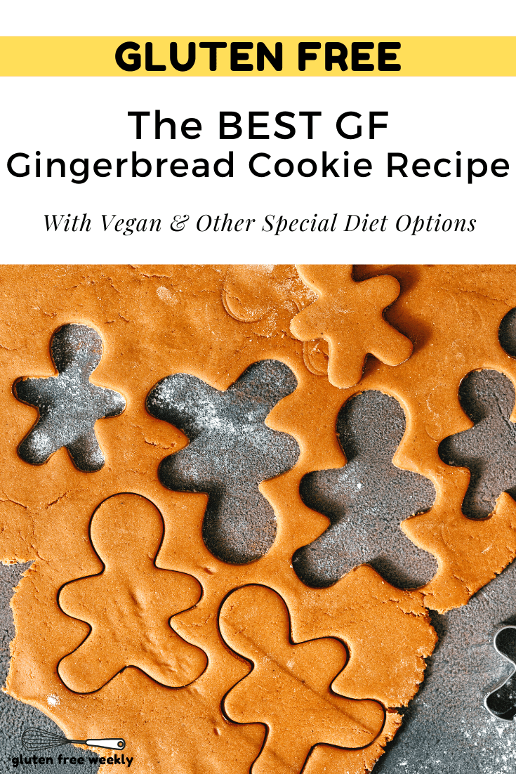 This is The BEST Gluten Free Gingerbread Cookie Recipe! It's EASY to make and tastes just like the Original. With Vegan and Special Diet Options.