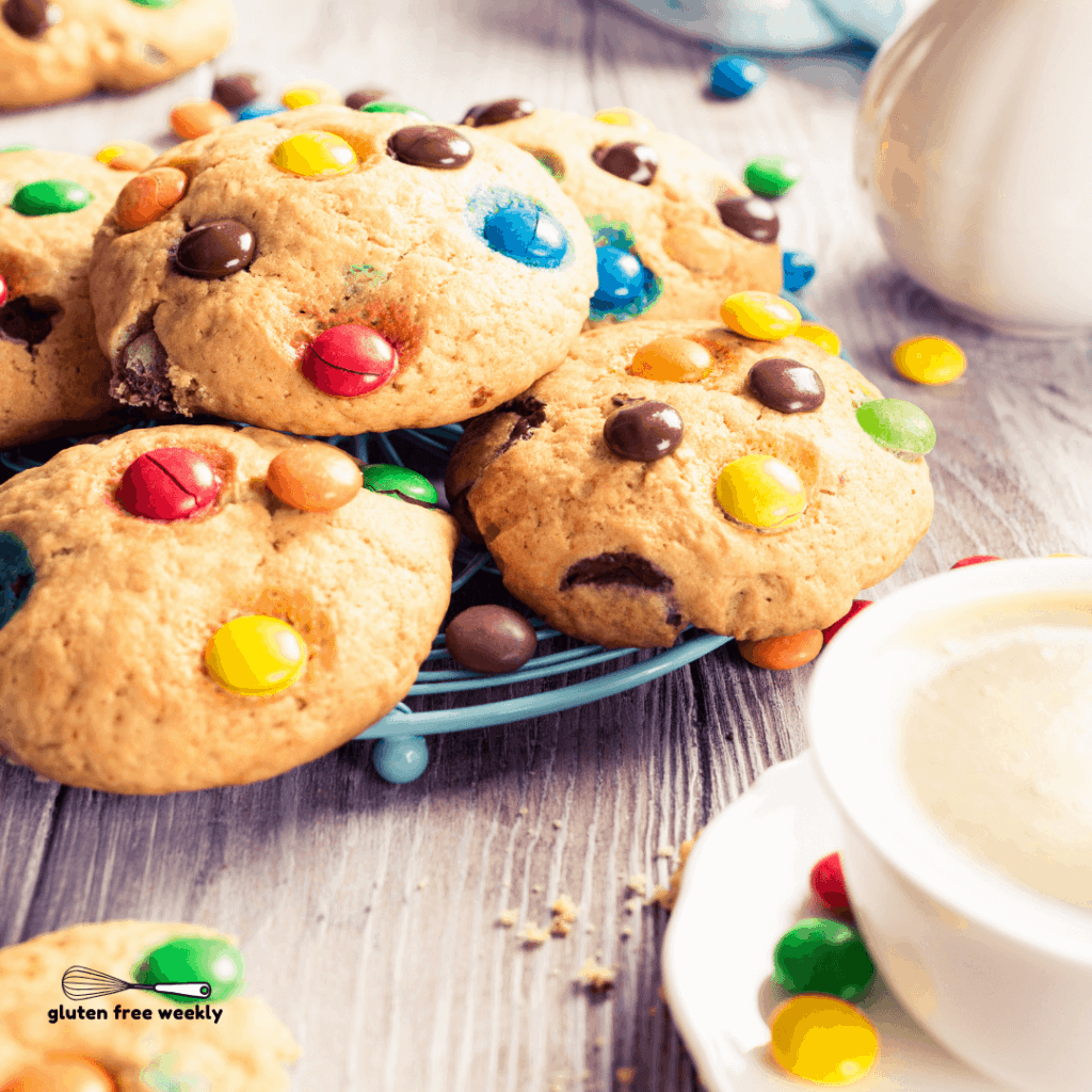 The BEST Gluten Free M&M's Cookie Recipe
