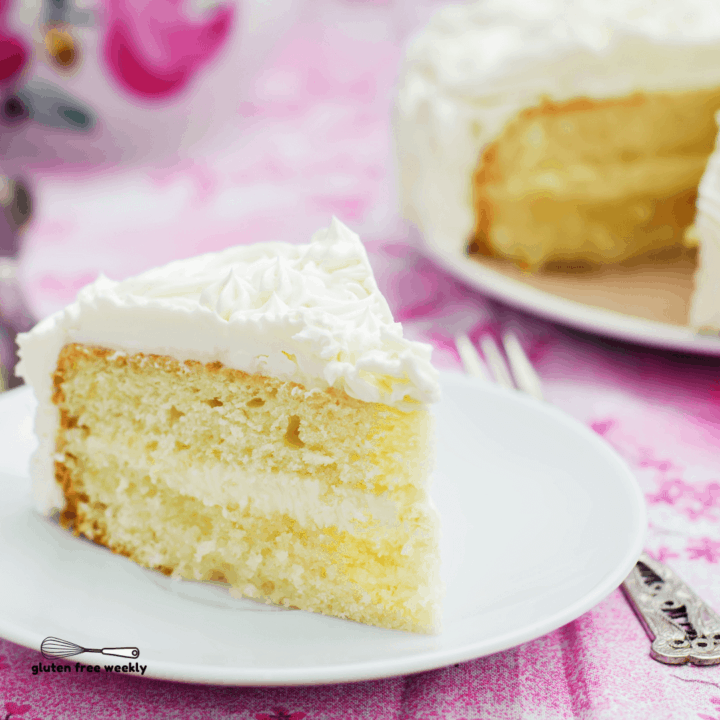 The BEST Gluten Free Moist Vanilla Cake Recipe