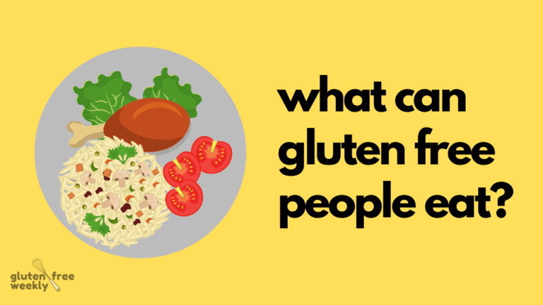 What Can Gluten Free People Eat